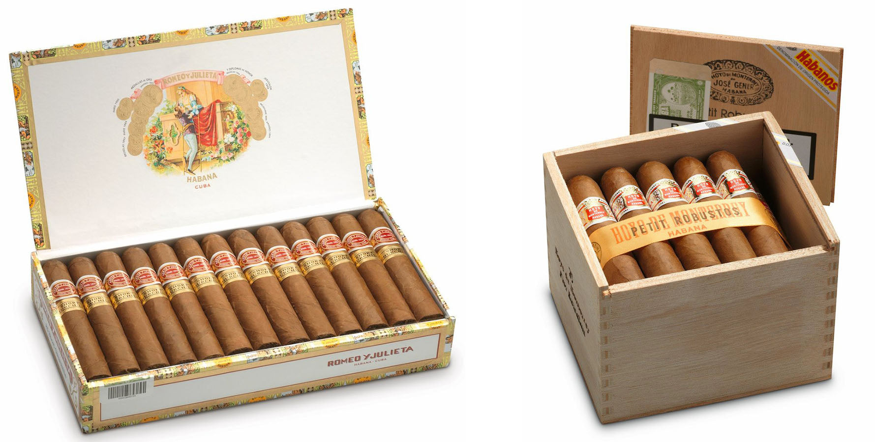 romeo y julieta short churchills cigar and hoyo de monterrey petit robusto cuban cigars egm cigars