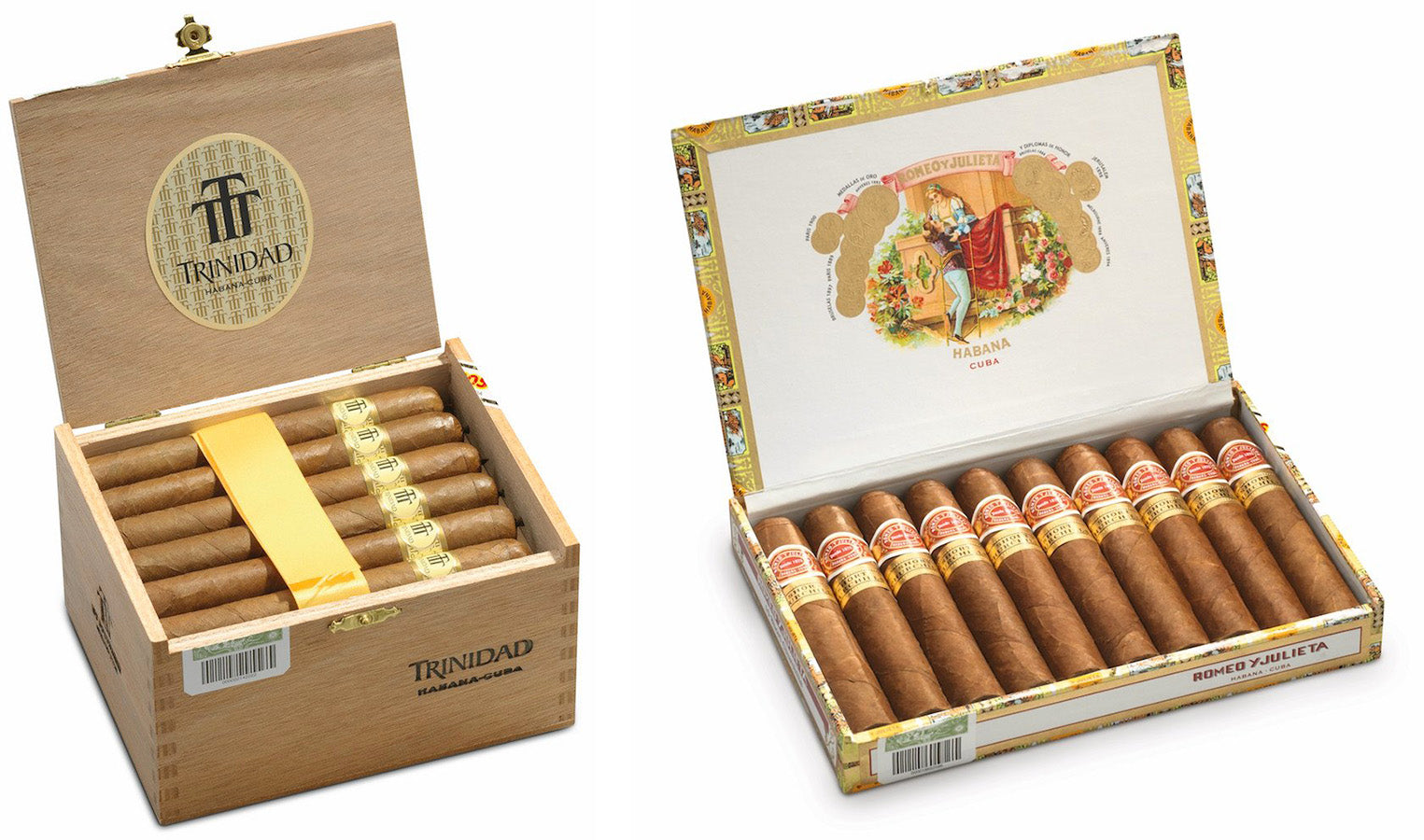 trinidad coloniales cigar and romeo y julieta short churchills cigar egm cigars
