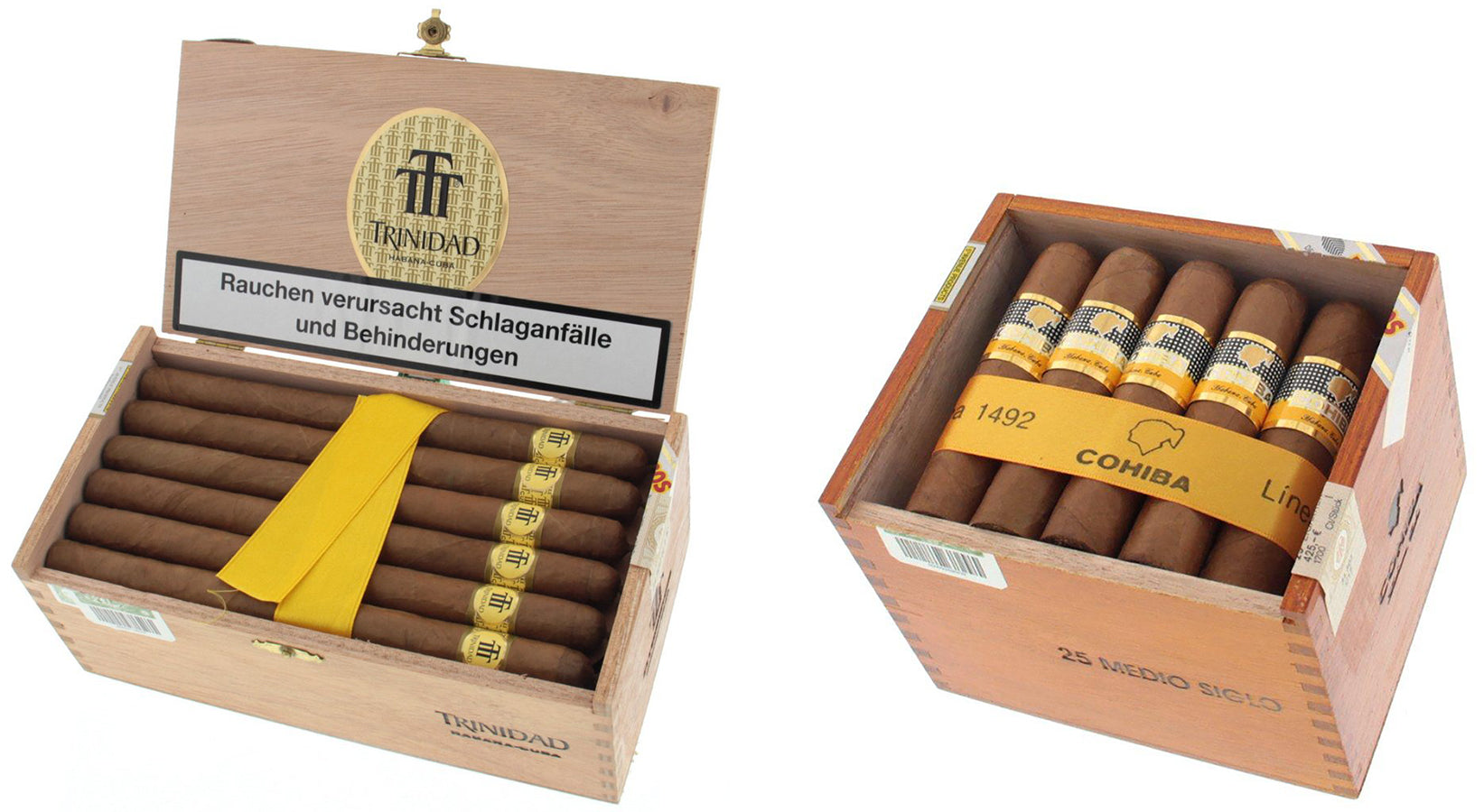 trinidad Fundadores cigars and cohiba medio siglo cigars EGM Cigars