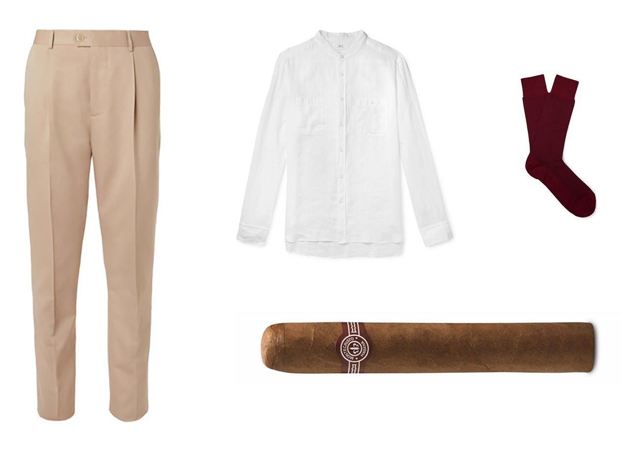 wimbledon week one outer courts montecristo edmundo and outfit egm cigars