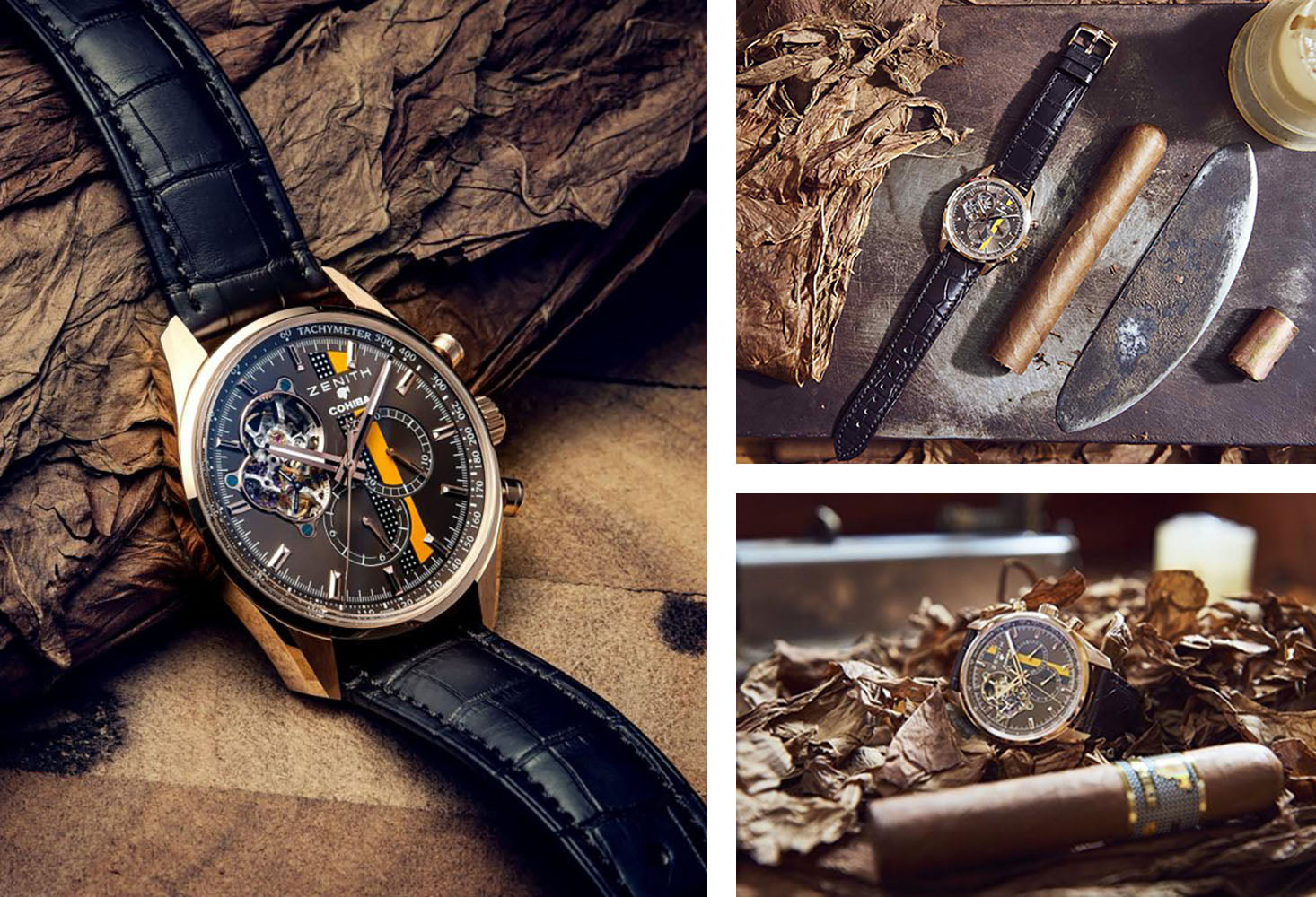 zenith watches celebrated el primero crnographer featuring a havan brown dial and emblematic Cohiba motifs egm cigars