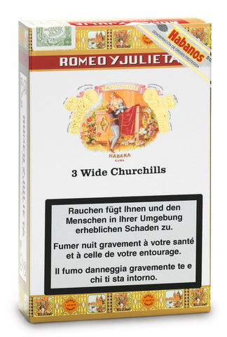 Romeo y Julieta Wide Churchills Cigar AT (Pack of 3) For Sale Online