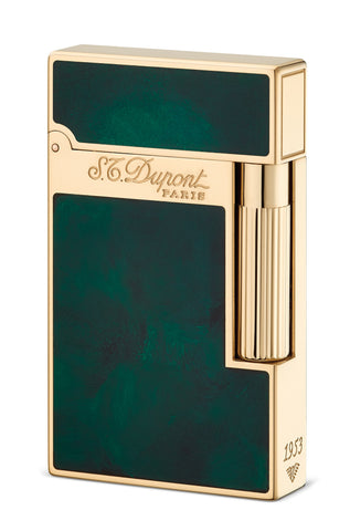 Image of the Atelier S.T Dupont- Emerald Green Finish Lighter For Sale Online