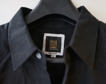Cohiba Atmosphere Guayabera - Black - For Sale