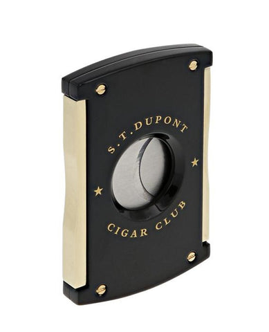S.T. Dupont Limited Edition Cigar Club Maxijet Cutter - Black and Gold egm cigars