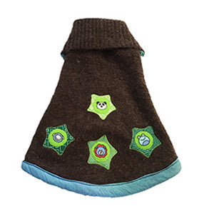 XSmall - Soft Brown Acrylic Blend Doggie Sweater