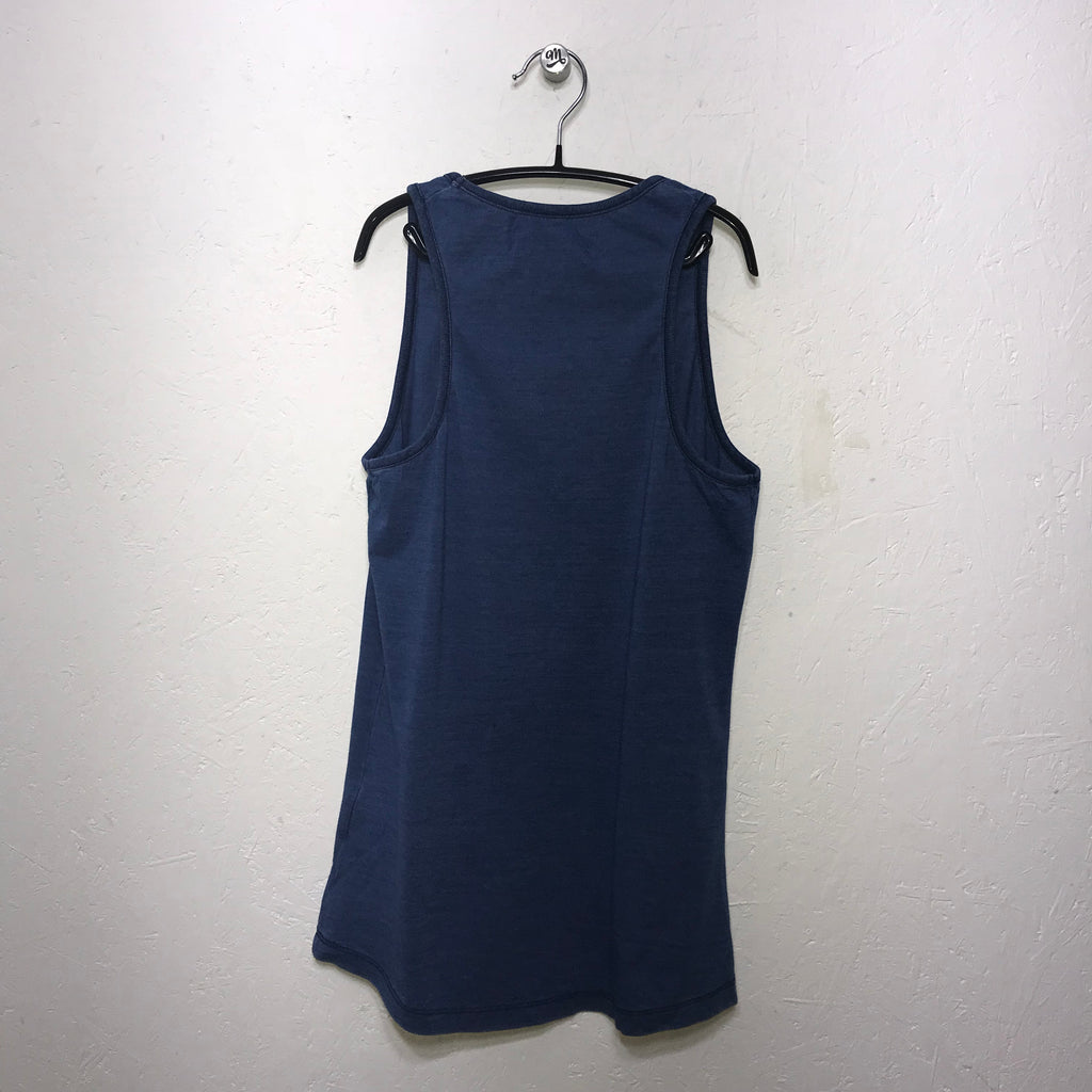 ECO Organic Yoga Vest Indigo (Two Colours)