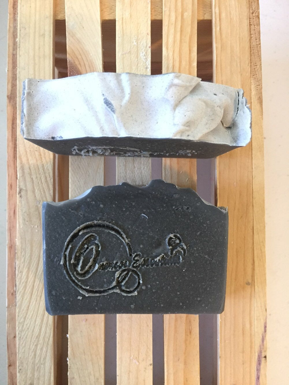Peppermint & Eucalyptus Goats Milk Soap With Activated Charcoal