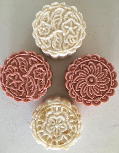 Bath Bombs - Floral, Hand Pressed