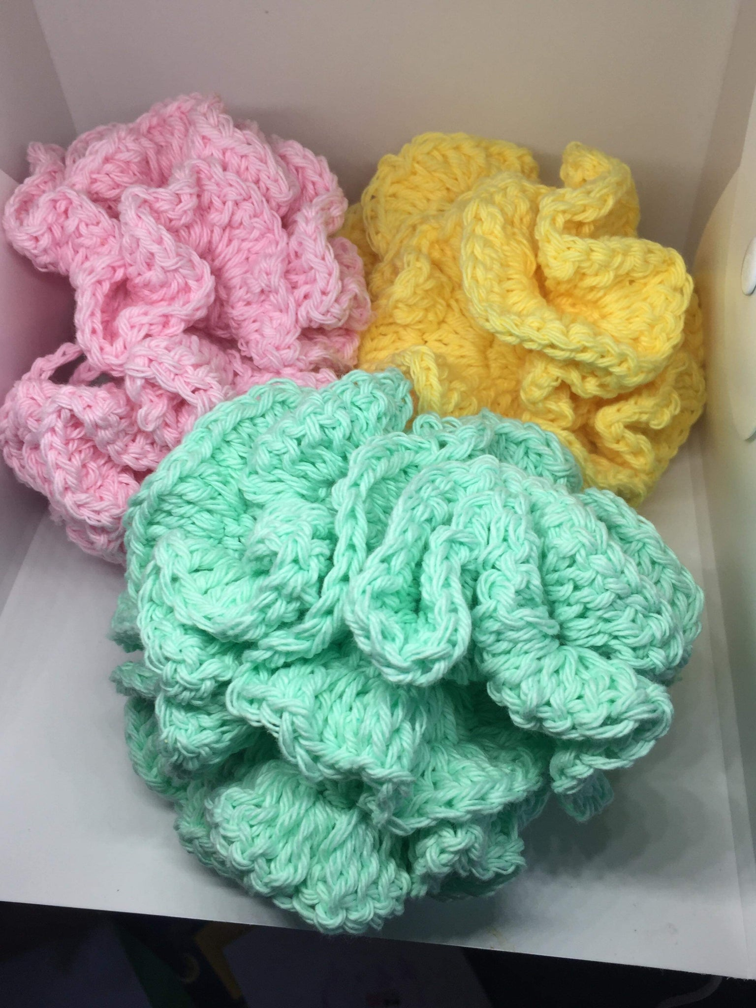 Crocheted Bath Poufs, Crocheted Bath Accessories