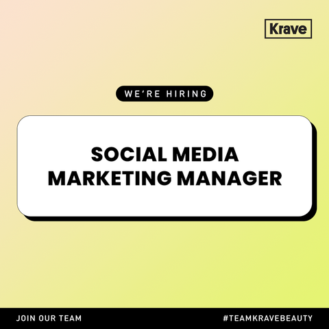 KraveBeauty Social Media Marketing Manager graphic