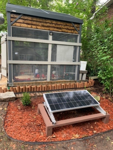 Jason and Corey's coop with solar panels