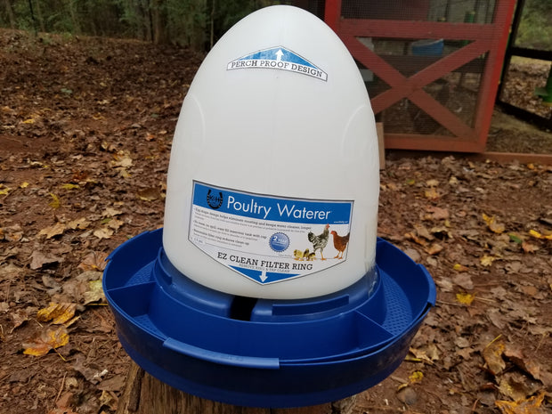 K&H Poultry Waterer - Blue - 2.5 Gallon