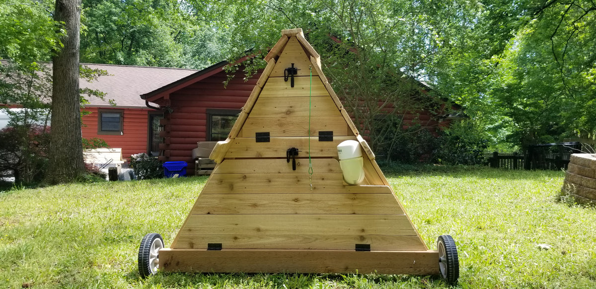 8 ft Cedar Chicken Tractor - with PVC Watering System
