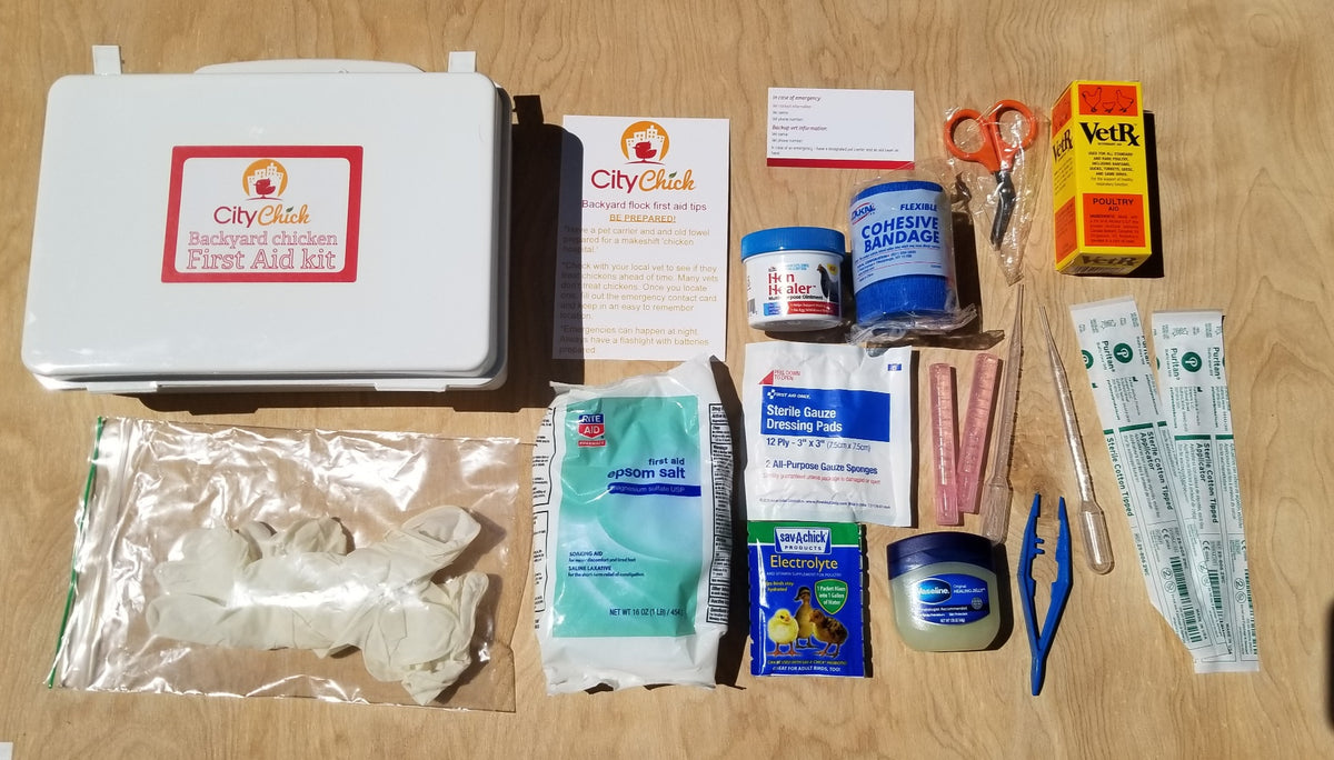 Chicken First Aid Kit from CityChick - First Aid kit for backyard chicken owners