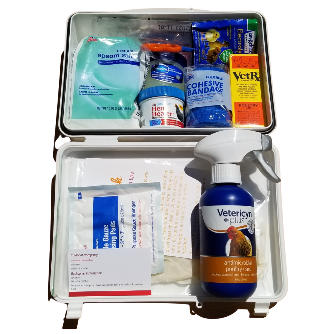 Chicken First Aid Kit *Premium* - First Aid kit for backyard chicken owners