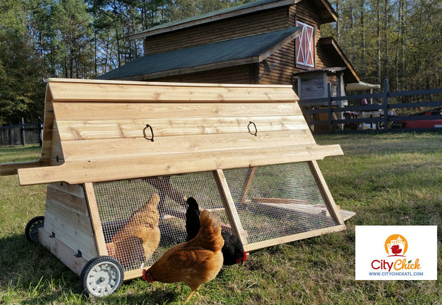6 ft cedar coop with pvc watering system