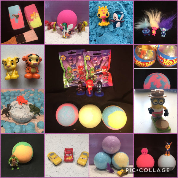 TOY SURPRISE! BATH BOMBS!