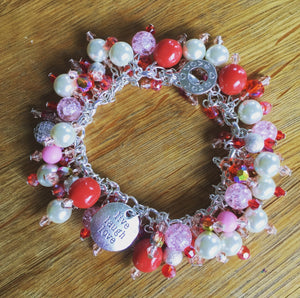 Mixed Reds Bead Bracelet