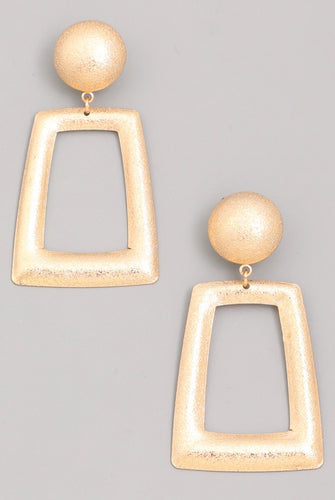 Golden Trapezoid Earrings