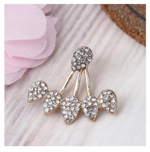 Gold Rhinestone Droplet Ear Cuffs