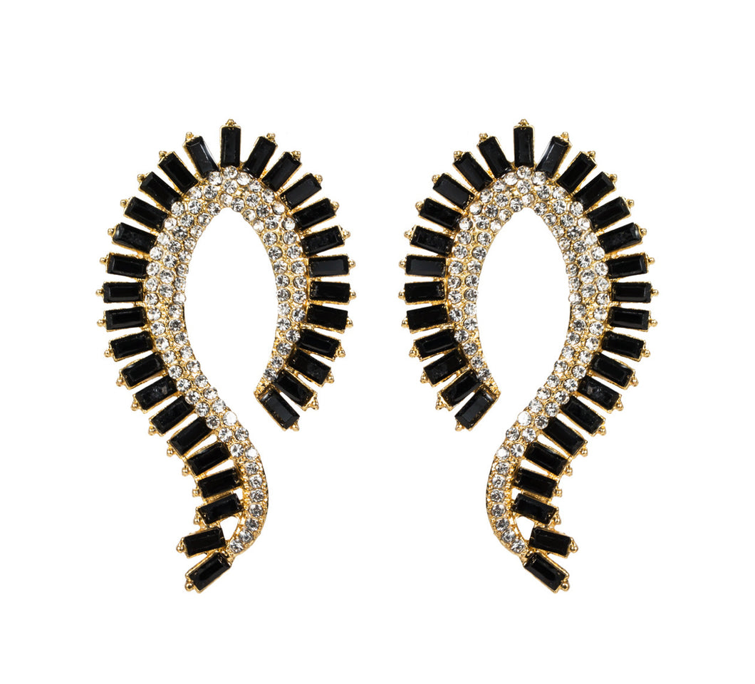 Black Cleopatra Earrings