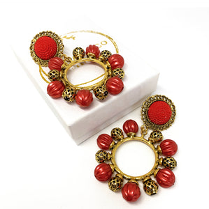 Red Flamenco Earrings