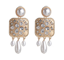 Large Pearl Embellished Earrings