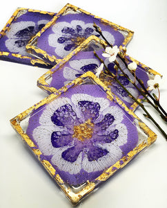 Purple Pansy Coasters