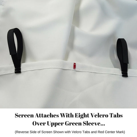 Golf Simulator Screen Pro Series with Velcro Tabs