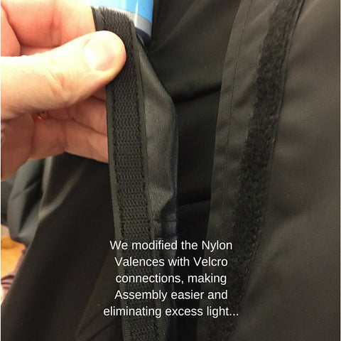 Velcro Valence Tabs on Simulator Series