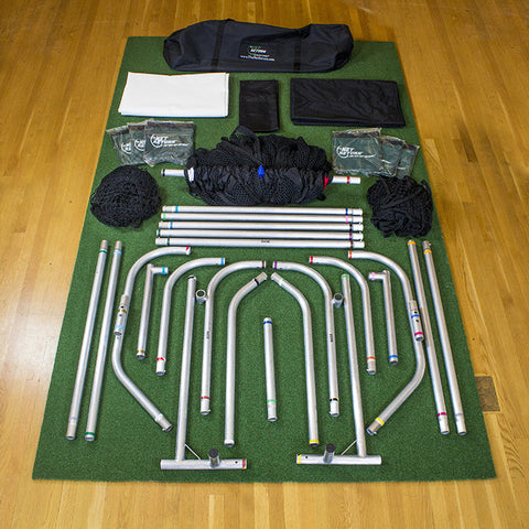 Simulator Series Package Laid out on Pro Turf