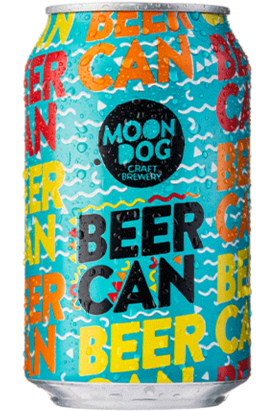 Moon Dog Beer Can Tropical Lager - Temple Cellars
