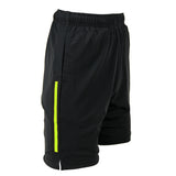 Apacs Black Shorts Green Trim (AP096)