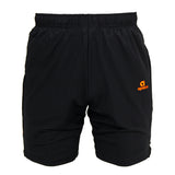 Apacs Black Shorts Orange Trim (AP096)