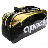 Double Compartment Racket Holdall - AP-2531 Black/Gold