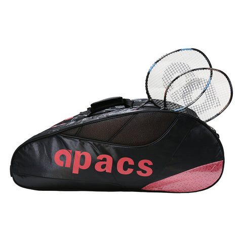 Apacs Double Compartment Racket Bag - AP-853 Red