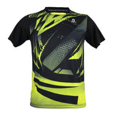Apacs Dry-Fast T-Shirt (RN10115) - Black/Yellow NEW FOR 2021