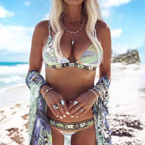 2018 New Arrival Women Swimwear Bikini Set Bandage