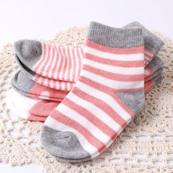 LouLi 4 Pairs / Order Retro Baby Socks Set - LouLi - Designed For Your Child