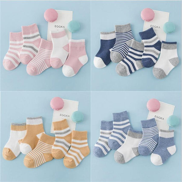 LouLi 5 pairs Striped Mix Warm Baby Socks Set - LouLi - Designed For Your Child