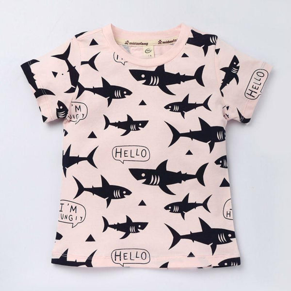 LouLi Bob My Friendly Cartoon Shark Shirt - LouLi - Designed For Your Child