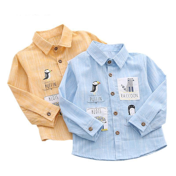 LouLi Cartoon Patch Cardigan Shirt - LouLi - Designed For Your Child
