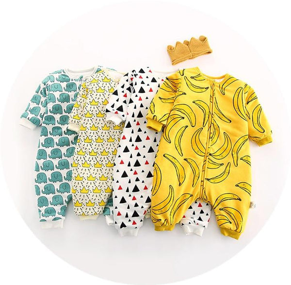 LouLi Cute Patterned Zipper Baby Romper - LouLi - Designed For Your Child