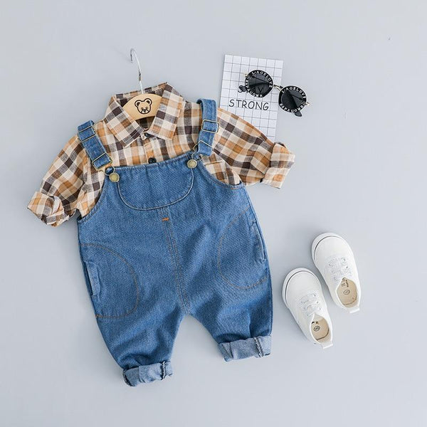 LouLi Farm Boy Overall & Shirt Baby Set - LouLi - Designed For Your Child