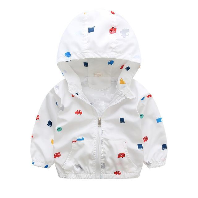 LouLi Gentle Patterned Hooded Jacket - LouLi - Designed For Your Child