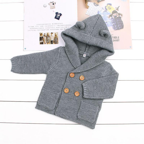 LouLi I Can Hear You Knitted Cardigan Baby Jacket - LouLi - Designed For Your Child