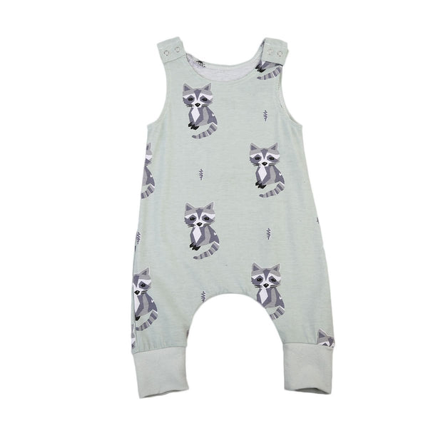 LouLi Meet The Raccoon Baby Romper - LouLi - Designed For Your Child