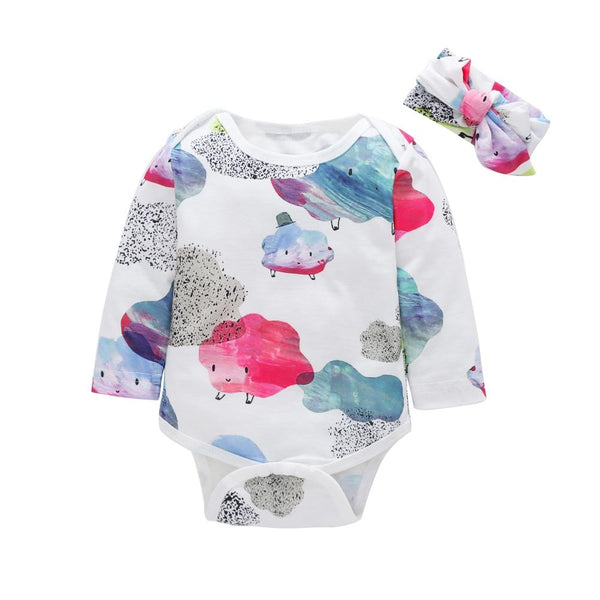 LouLi My Cloudy Friend Romper & Headband Set - LouLi - Designed For Your Child