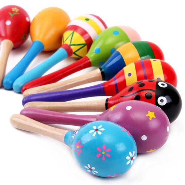 LouLi Rattle Me Wooden Maraca Baby Toy - LouLi - Designed For Your Child